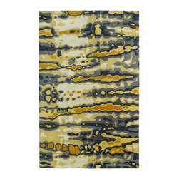 """Kaleen - Kaleen Brushstrokes Collection BRS03-05 2'6"""" x 8' Gold - The artistic inspirations of the Brushstrokes collection finally brings you a true piece of art for your floor! Beautiful hand-painted designs accentuated from a smooth and steady motion, this assortment features a unique spotlight of fantastic color combinations. Each rug is perfectly executed and detailed in this 100% wool, hand-tufted rug made in India."""