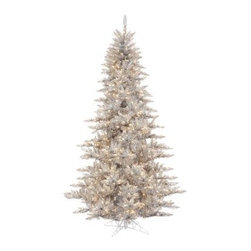 Vickerman Silver Fir Pre-lit Christmas Tree - The Vickerman Silver Fir Pre-lit Christmas Tree is a beautiful silver fir tree that boasts a variety of features to make your holiday special. The tree features PVC tips with hinged branch construction, as well as an on/off foot pedal switch for your convenience.Specifications for 14-foot tree Shape: Medium Base Width: 94 inches Number of Bulbs: 2250 Number of Tips: 6921Specifications for 12-foot tree Shape: Medium Base Width: 82 inches Number of Bulbs: 1650 Number of Tips: 4631Specifications for 10-foot tree Shape: Medium Base Width: 68 inches Number of Bulbs: 1150 Number of Tips: 2980Specifications for 9-foot tree Shape: Medium Base Width: 64 inches Number of Bulbs: 1000 Number of Tips: 2326Specifications for 7.5-foot tree Shape: Medium Base Width: 52 inches Number of Bulbs: 750 Number of Tips: 1634Specifications for 6.5-foot tree Shape: Medium Base Width: 46 inches Number of Bulbs: 600 Number of Tips: 1216Specifications for 5.5-foot tree Shape: Medium Base Width: 34 inches Number of Bulbs: 400 Number of Tips: 794Specifications for 4.5-foot tree Shape: Medium Base Width: 34 inches Number of Bulbs: 250 Number of Tips: 525 Specifications for 3-foot tree Shape: Medium Base Width: 25 inches Number of Bulbs: 100 Number of Tips: 234Don't Forget to Fluff!Simply start at the top and work in a spiral motion down the tree. For best results, you'll want to start from the inside and work out, making sure to touch every branch, positioning them up and down in a variety of ways, checking for any open spaces as you go.As you work your way down, the spiral motion will ensure that you won't have any gaps. And by touching every branch you'll create the desired full, natural look.About VickermanThis product is proudly made by Vickerman a leader in high quality holiday decor. Founded in 1940, the Vickerman Company has established itself as an innovative company dedicated to exceeding the expectations of their customers. With a wide variet