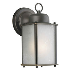 Forte Lighting - Modern / Contemporary Energy Efficient Fluorescent Outdoor Wall Sconce 4.5Wx9.5H - Outdoor Wall Sconce