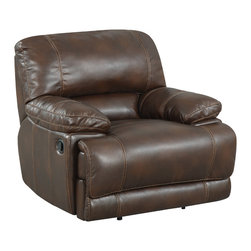 Emerald Home Furnishings - Rigley II Power Recliner by Emerald Home Furnishings in Chocolate Bonded Leather - Rigley II Power Recliner by Emerald Home Furnishings in Chocolate Bonded Leather.