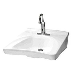 """TOTO - TOTO Commercial Wall Mount Wheelchair User Lavatory - TOTO LT308.4A#01 Commercial Wall Mount Wheelchair User Lavatory with Soap Dispenser 4"""" Centers, Cotton White"""