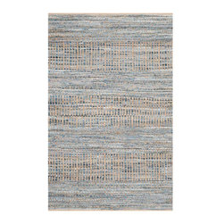 Safavieh - Mathieu Natural Fiber Rug, Natural / Blue 4' X 6' - Construction Method: Hand Woven. Country of Origin: India. Care Instructions: Vacuum Regularly To Prevent Dust And Crumbs From Settling Into The Roots Of The Fibers. Avoid Direct And Continuous Exposure To Sunlight. Use Rug Protectors Under The Legs Of Heavy Furniture To Avoid Flattening Piles. Do Not Pull Loose Ends; Clip Them With Scissors To Remove. Turn Carpet Occasionally To Equalize Wear. Remove Spills Immediately. Think coastal living and casual beach house style with rugs so classic they will even work in the city. Safavieh's natural fiber rugs are soft underfoot, textural, natural in color and woven of sustainably-harvested sisal and sea grass, or biodegradable jute fibers twice-washed for unrivaled softness and beauty.