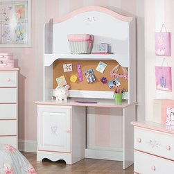 Standard Furniture - Standard Furniture Sweet Dreams 46 Inch Hutch in White & Pink - Sweet Dreams, by Frisco Manufacturing, features a traditional look, inspired by fairy tales every princess dreams of. Quality wood products bonded together creates durable construction throughout. Products may contain some plastic parts. French dovetail construction throughout enhances durability. Roller side drawer guides provide ease and convenience. Coordinated pink color knobs. Floral d - 59715.  Product features: Belongs to Sweet Dreams Collection; Floral d. Product includes: Hutch (1). 46 Inch Hutch in White & Pink belongs to Sweet Dreams Collection by Standard Furniture.