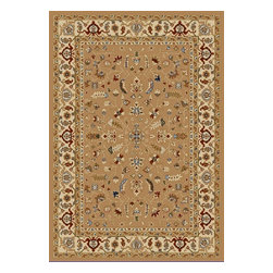"""Safavieh - Tilda Rug, Beige / Cream 2'6"""" X 4' - Construction Method: Power Loomed. Country of Origin: Turkey. Care Instructions: Vacuum Regularly To Prevent Dust And Crumbs From Settling Into The Roots Of The Fibers. Avoid Direct And Continuous Exposure To Sunlight. Use Rug Protectors Under The Legs Of Heavy Furniture To Avoid Flattening Piles. Do Not Pull Loose Ends; Clip Them With Scissors To Remove. Turn Carpet Occasionally To Equalize Wear. Remove Spills Immediately. The dramatic patterns of heirloom Serape, Sultanabad and Oushak rugs are recreated for 21st century lifestyles in the Austin Collection. Power-loomed of long-wearing, easy-care polypropylene, each rug stands up to heavy traffic while adding timeless beauty to entry hall, living room, kitchen and more."""