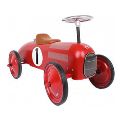 Vilac Ride On Classic Car, Red - Developed by Vilac, this classic ride is a children's toy that adults will love to see around the house, probably because photo stylists use it to death, and I mean that in a good way.