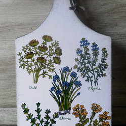 Vintage Botanical Cutting Board by Bohopage