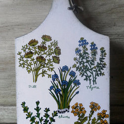 Vintage Botanical Cutting Board by Bohopage - This cutting board is so chic that it could double effortlessly as a cheese plate or, heck, just hang it on the wall.
