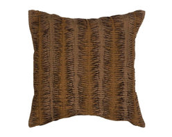 """Surya - Surya Pillow X-D8181-6620P - The solid, textural design of this pillow makes it the perfect finishing touch for any room. The color brown accents this decorative pillow. This pillow contains a down fill and a zipper closure. Add this 18"""" x 18"""" pillow to your collection today."""