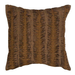 "Surya - Surya Pillow X-D8181-6620P - The solid, textural design of this pillow makes it the perfect finishing touch for any room. The color brown accents this decorative pillow. This pillow contains a down fill and a zipper closure. Add this 18"" x 18"" pillow to your collection today."