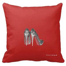 Contemporary Decorative Pillows by Tomova Jai Designs