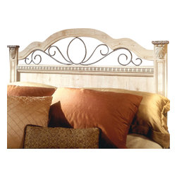Standard Furniture - Standard Furniture Seville Full/Queen Panel Headboard - Seville offers a warm blend of soft tones and granite color illustrate the European Country style of this collection. Wood products with simulated wood grain laminates. This group may contain plastic parts. Metal is used for the grills. Drawers offer roller side drawer guides allowing for easy operation. Drawer stops are included for safety. Bail pulls and knobs with simulated pewter color finish. Old fashioned wood color and simulated Jura granite. Surfaces clean easily with a soft cloth.