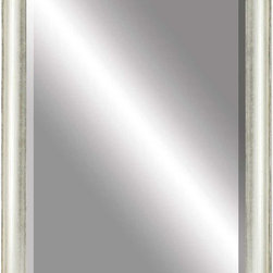 Paragon Decor - Beveled Mirror, Pearl Wood, 36x48 - Mirror, Mirror, on the wall, who's the most beautiful mirror of them all? Reflect your impeccable taste with this contemporary-style mirror, which features a gorgeous simple pearl wood frame and high-quality interior beveled mirror. This piece measures 41 inches wide, 2 inches deep, and 53 inches high.