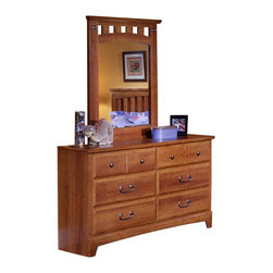 Standard Furniture - Standard Furniture City Park Kids Mirror in Cherry - The City Park Kids collection is a youthful interpretation of distinct craftwork. City Park Kids Features a traditional yet timeless look that is sure to engage your room with classic comfort and innovative style. Wood products with simulated wood grain laminates. This group may contain plastic parts. French dovetail drawers with roller slide drawer guides. Mirrors are back-mounted and reinforced. Metal pulls are enhanced by an antique pewter color finish. Cherry color and star pattern finish. Surfaces clean easily with soft cloth as needed.