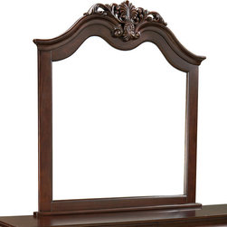 Standard Furniture - Standard Furniture Westchester Arched Mirror in Cherry - Traditional styling in a rich cherry color finish with extensive detailing. Quality veneers over wood products and select solids used throughout. Group may contain some plastic parts.
