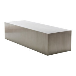 Nuevo Living - Athens Coffee Table - Minimalist much? If yes, meet your new coffee table. As sophisticated as it is simple, this brush-finished stainless steel piece makes a modern style statement for all to admire.