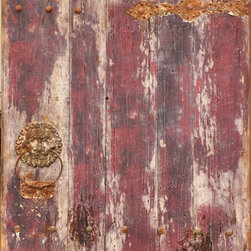 Moe's Home Collection - Old Door II - Chic Old Door with Purple and Rust made from Metal and Wood. Pieces may vary, no 2 alike