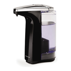 simplehuman - Compact Sensor Pump With Soap Sample, Black, 8 Fl. Oz. - Wash all your cares — or at least the daily grime — away with this liquid soap dispenser. Wave your hand under the sensor and the perfect pump of soap magically appears where you need it. It's also designed to be drip-free and easy to refill. Has washing your hands ever been this easy?