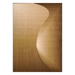 """Nourison - Nourison Radiant Arts 1 Amber Area Rug, 2'3""""x4' - An interlocking swerve and curve pattern in arresting amber plays on light, shadow and perspective to create a daring abstract design in the third dimension. This thrilling contemporary rug adds an exciting element of intrigue to any area. What's included: Rug (1)."""