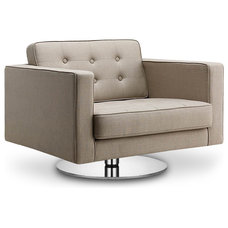 Modern Armchairs And Accent Chairs Chelsea Beige Premium Armchair (Swivel)