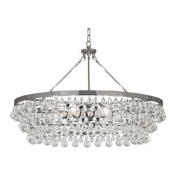 Robert Abbey - Robert Abbey Bling Large Chandelier S1004 - Deep Patina Bronze Finish