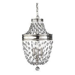 Murray Feiss - Polished Nickel Malia 12.3 Diameter 3 Light Mini Chandelier - Lamping Technologies: