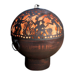 G.D. - Fire Bowl with Full Moon Party FireDome - Enjoy time around the fire with family and friends with this beautiful fire bowl!   The Full Moon Party Firedome is fun and a great conversation piece!