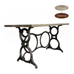 Singer Desk, Zinc Metal