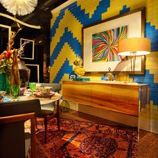 Eclectic Dining Room by Garrison Hullinger Interior Design Inc.