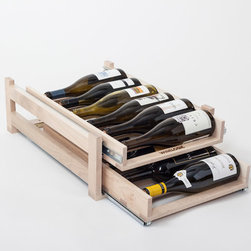 WineLogic - WineLogic Wine Rack - 12 Bottle - Wine Logic is an innovative wine storage solution designed to fit into base cabinets or can be self-standing for use on countertops, in closets, bars, or in other locations throughout the home.