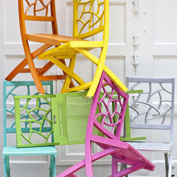 The Fifi Chair - Faux bamboo folding chairs, where have you been all my life? At just $189 a pop, these have me dreaming up a full dining set.