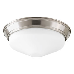 "Progress Lighting - Progress Lighting P2303-09Et30K Led Flush Mount (13 1/4"") Etched Glass Bowl - LED Flush Mount (13 1/4"")"