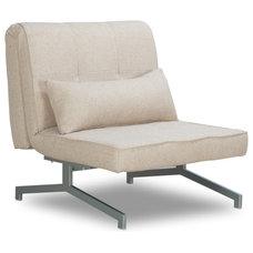 Modern Accent Chairs Cardini Uno Beige Sleeper Chair