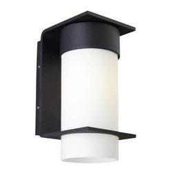 Lbl Lighting - Outdoor Wall Light - Clean-lined metal base with an opal glass cylinder. Incandescent includes (1) E26 medium base 60 watt or equivalent A19 lamp; fluorescent includes (1) GX24Q-2 base 18 watt triple tube compact fluorescent lamp.120 or 277v.