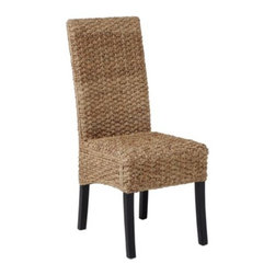 Z Gallerie - Hyacinth Chair - A beautiful and natural material is woven over a simple modern form to create our Hyacinth Collection. Water hyacinth is a sustainable and renewable fiber and gives a great look and comfort to a dining collection.