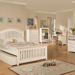 Acme Furniture - Crowley 5 Piece Full Bedroom Set with Trundle - 00750F-5Set - Set includes Full Bed, Dresser, Mirror, Nightstand and Chest