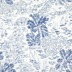 Homeport Novelty - Marine Wallpaper - I am not supposed to play favorites, but I have to admit, this is my new favorite wallpaper. It's just so crisp and happy at the same time, and it seems like something Dorothy Draper would have approved of.