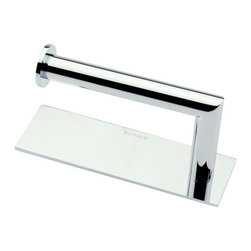 """Ginger - Ginger 2806R/PC Polished Chrome Surface Surface Single Post Toilet - Open Toilet Tissue Holder  6.7""""W x 2.2""""H x 3.7""""D"""