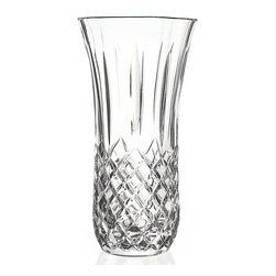 "Lorren Home Trends - RCR Opera Vase, By Lorren Home Trends - This crystal vase from RCR Opera Collection has beautiful cuts along the bottom that pick up the light and reflect a radiant elegance.  Large open mouth will hold bouquet of flowers perfectly.  Use with real or artificial flowers to creat a stunning display. This vase is made in the Tuscan region of Italy from the purest material available and with the most strict RCR standards to ensure an authentic piece you can treasure for years to come.  This vase measures 5"" x 5"" x 9.5"" and weighs 3.5 pounds."