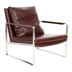 sohoConcept - Zara Arm Chair - Zara is a modern occasional armchair with its distinctive solid stainless steel arms which are covered by leather. Zara Chair may also be special ordered with variety of other colour options with no minimum quantity requirement. Zara is perfect for both residential and commercial applications. Zara is designed by sohoConcept team.