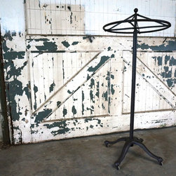 Vintage Industrial- Authentic Cast Iron Garment Rack - Original Cast Iron Garment Rack. Pedestal Base Made in N.Y.