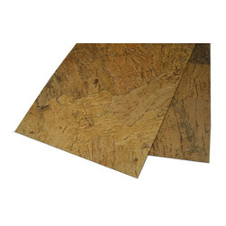 """Forna - Forna Oak Bark Cork Wall Tile """"Orgclay"""" (21.31 Sqft/pkg), Noise Out. Quiet In - Appearance: Designed to mimic """"Field Stones""""; random pattern; does well around fireplaces and for """"stone work"""" appearance; does well in medium to large design areas."""