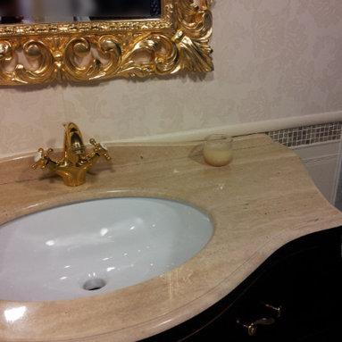 Roberto Cavalli Floor Tile- Valentino Wall Tile Bathroom - Designed by AJ Favorito