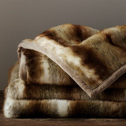 Faux Fur Throw, Brown Wolf - Spread this amazingly soft faux fur blanket down in front of the fire and get cozy! Clothing optional — wink, wink.