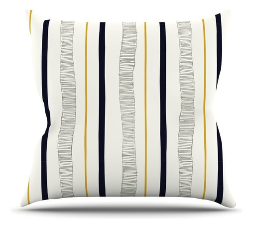 """Kess InHouse - Laurie Baars """"Textured Stripes"""" Abstract Lines Throw Pillow (Outdoor, 16"""" x 16"""") - Decorate your backyard, patio or even take it on a picnic with the Kess Inhouse outdoor throw pillow! Complete your backyard by adding unique artwork, patterns, illustrations and colors! Be the envy of your neighbors and friends with this long lasting outdoor artistic and innovative pillow. These pillows are printed on both sides for added pizzazz!"""