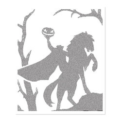 Postertext - The Legend Of Sleepy Hollow Art Print - Made Entirely With Text (B & W) - The Legend of Sleepy Hollow poster is created using the entire text of the book.