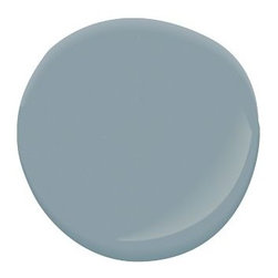 Van Courtland Blue Paint - Paint can be one of the quickest ways to makeover a living room without breaking the bank. I love Benjamin Moore's line at Pottery Barn, especially this subtle yet dreamy gray blue.
