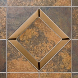 "6"" Solid Bronze Frame for 4"" Wall Tiles - Burnished Bronze - Accent your bathroom or kitchen wall tile with this sophisticated 6"" solid bronze frame. Fits most 4"" wall tiles, sold separately."