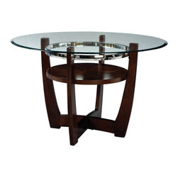 Standard Furniture - Standard Furniture Apollo Round Dining Table in Brown Cherry - Quality veneers over wood products and select solids are used throughout. Group may contain some plastic parts. Deep brown cherry color finish. Surfaces clean easily with a soft cloth.