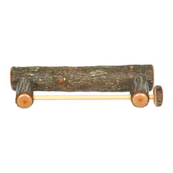 Hickory Wall-Mounted Paper Towel Holder - The Hickory Wall Mounted Paper Towel Holder is a delightful way to add a rustic touch to your home or cabin. Each piece is individually hand crafted to ensure that it is of the highest possible quality. All Hickory Logs are bark on and kiln dried to a specific moisture content and clear-coat catalyzed lacquer finished for extra durability.