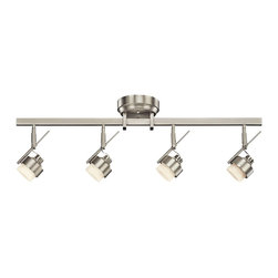 Kichler - Kichler No Family Association 4 Light Track Lighting in Brushed Nickel - Shown in picture: Kichler Fixed Rail 4Lt LED in Brushed Nickel